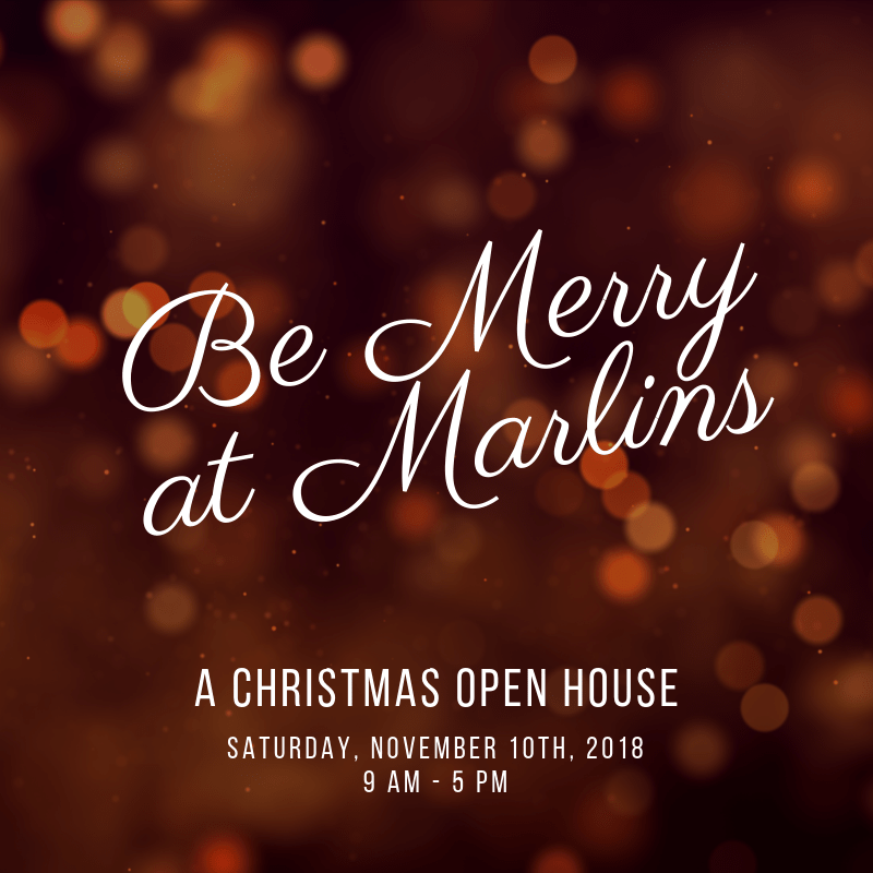 Christmas Open House.Be Merry At Marlins A Christmas Open House Marlinorchard Com